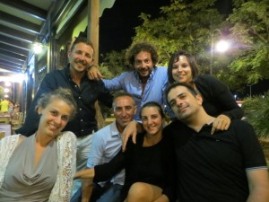 The Pipitone cousins (some of them) and their mates. Pippo is sitting on the far right and Consuelo is standing above him.